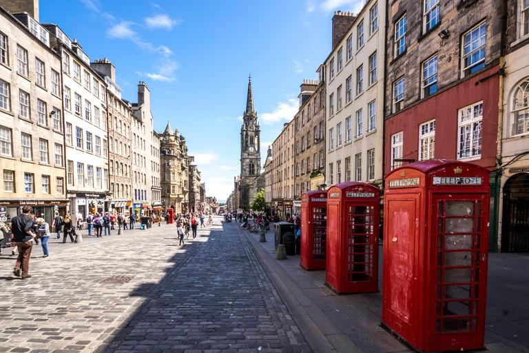 Looking down the royal mile, Edinburgh.