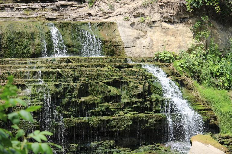 Albion Cascading Waterfalls in Hamilton, Ontario, Canada.