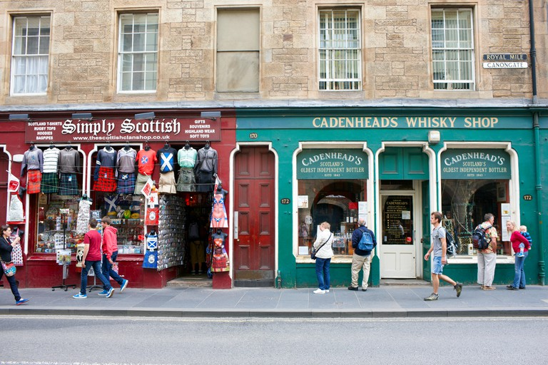 Shops on the Royal Mile, Edinburgh
