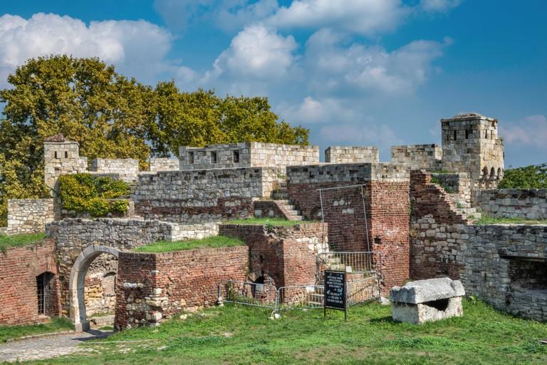 Fortifications at Kalemagdan Citadel aka Belgrade Fortress in Belgrade, Serbia