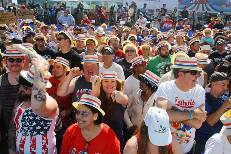 The Crowd at the 2016 Nathan's Hot Dog Eating Contest