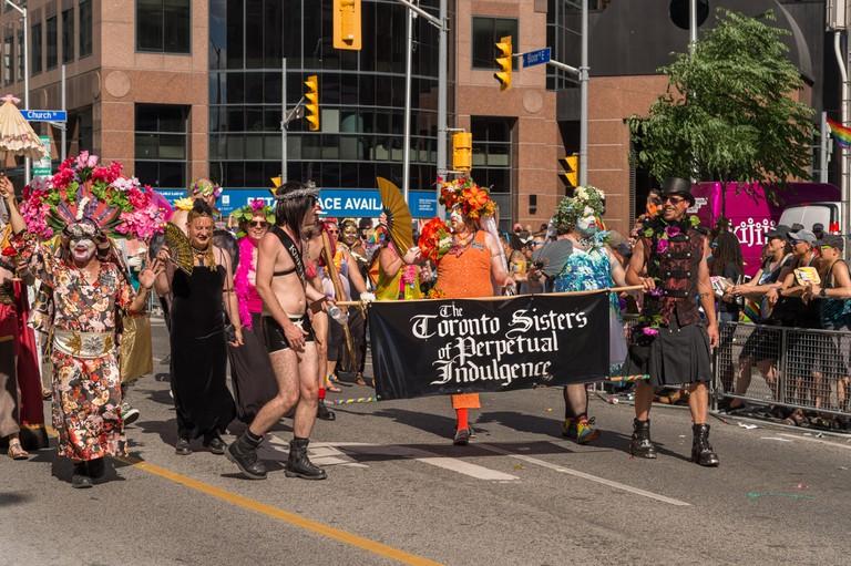 Toronto Sisters of Perpetual Indulgence march at Toronto Pride Parade
