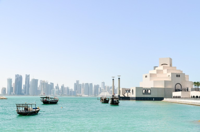 Doha Bay in Qatar, with the Museum of Islamic Art