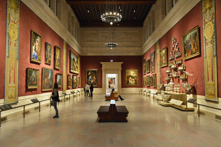 Inside the Museum of Fine Arts in Boston, Massachusetts.