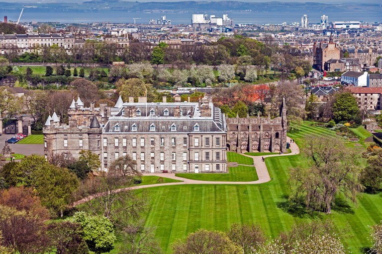 The Palace of Holyroodhouse is the Queen's official residence in Scotland