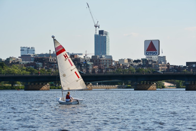 Boston University in Allston, Massachusetts along the Charles River