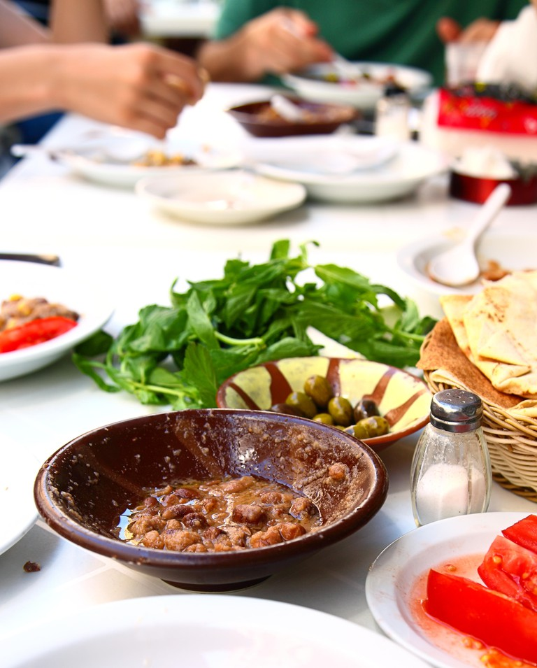 Foul Beans, traditional middle eastern breakfast
