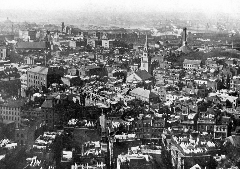 A view of the North End of Boston from 1913