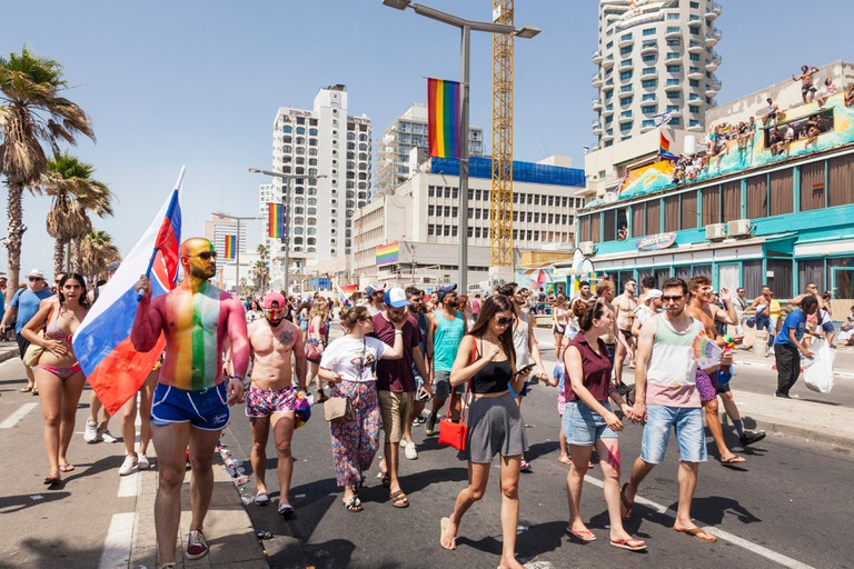 The Pride festivities culminate in a parade through the city