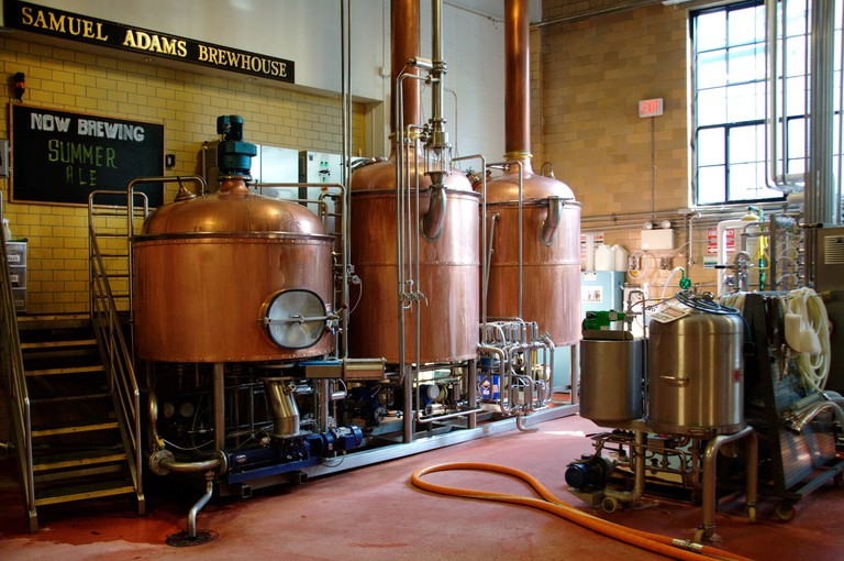 Summer Ale is brewing in the Samuel Adams Brewery in Boston, MA. Image shot 05/2016. Exact date unknown.