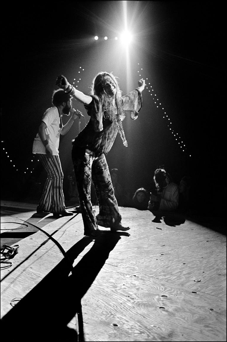 USA. Bethel, NY. 1969. Janis Joplin. Woodstock Festival.