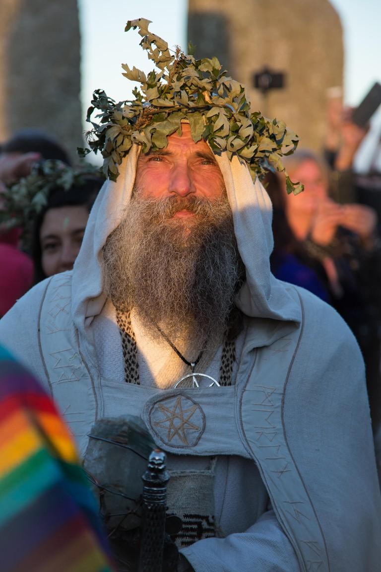 Pagan man at Stonehenge