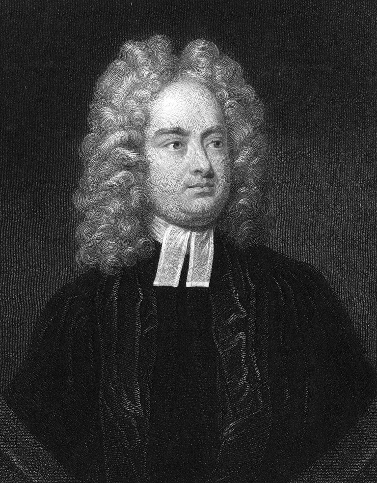 Jonathan Swift (1667-1746) Anglo-Irish clergyman, satirist and poet. Author of 'Gulliver's Travels' 1726 'Battle of the Books' and 'A Tale of the Tub' 1704.
