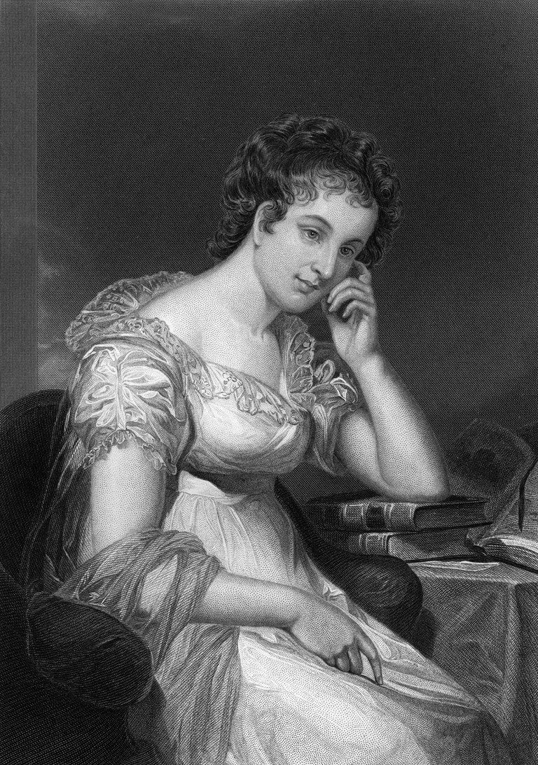 "Maria EDGEWORTH 1767-1849, Anglo-Irish writer especially known for her children's stories and Irish novels, steel engraving after an original painting by Chappel, from ""Portrait Gallery of Eminent Men and Women of Europe and America"" by Evert A. Duyckinck, 1873."
