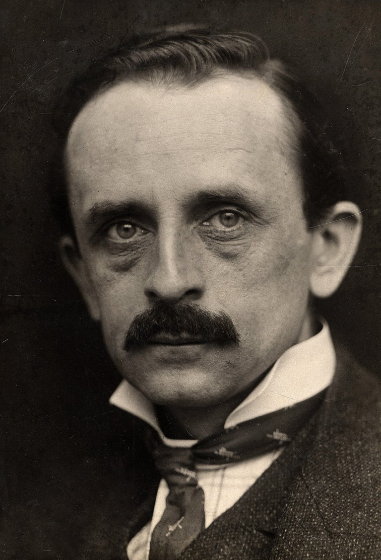Sir James Matthew (J M) BARRIE, 1860-1937, English playwright who wrote Peter Pan.