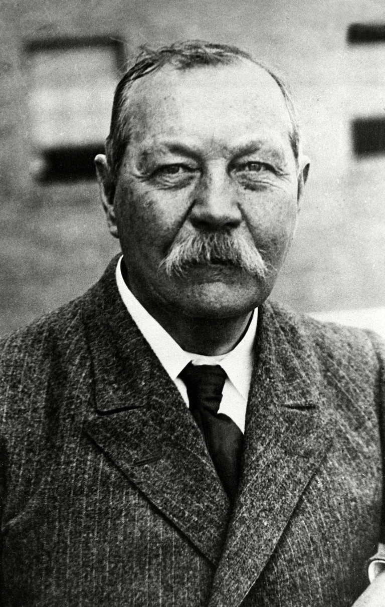 This 1930 photo shows Sir Arthur Conan Doyle, the author and creator of Sherlock Holmes.