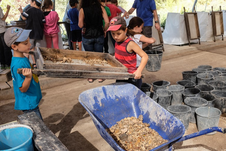 Children at the Temple Mount Sifting Project