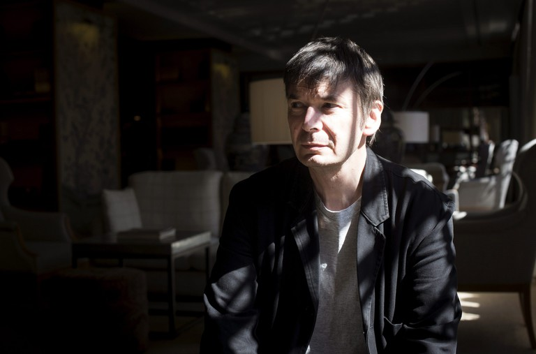 Scottish Noir Writer Ian James Rankin poses during an interview held in Madrid, Spain 03 October 2016.