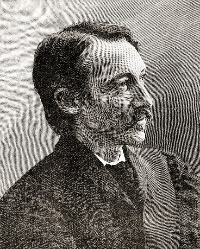 Robert Louis Balfour Stevenson, 1850 – 1894. Scottish novelist, poet, essayist, and travel writer. From The Century Edition of Cassell's History of England, published c. 1900