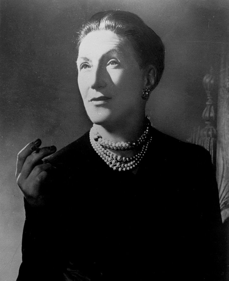 Elizabeth Bowen (1899-1973). Irish Writer. Photograph By Angus Mcbean, C1949.