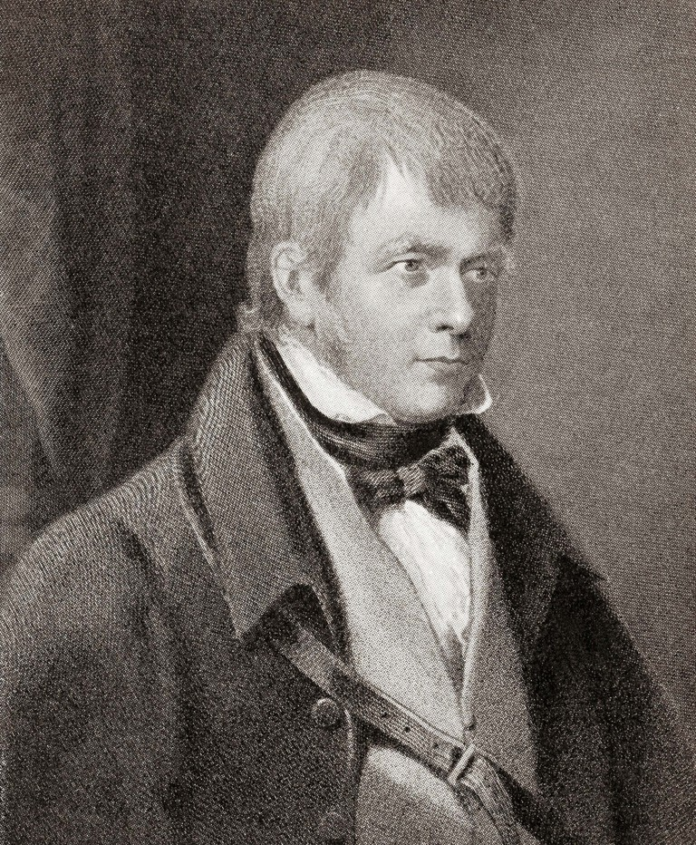 Sir Walter Scott, 1st Baronet, 1771 – 1832. Scottish historical novelist, playwright and poet. From Hutchinson's History of the Nations, published 1915.