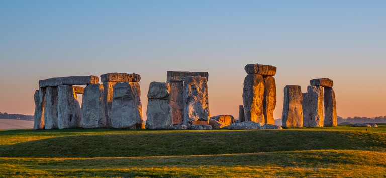 Stonehenge on Salisbury Plain, Wiltshire in the South West of England