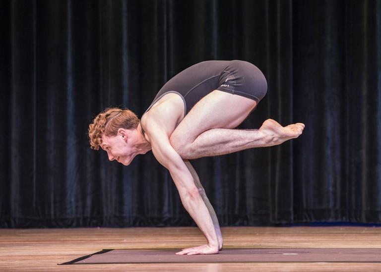 Bruce Merkle at the USA Yoga Championship