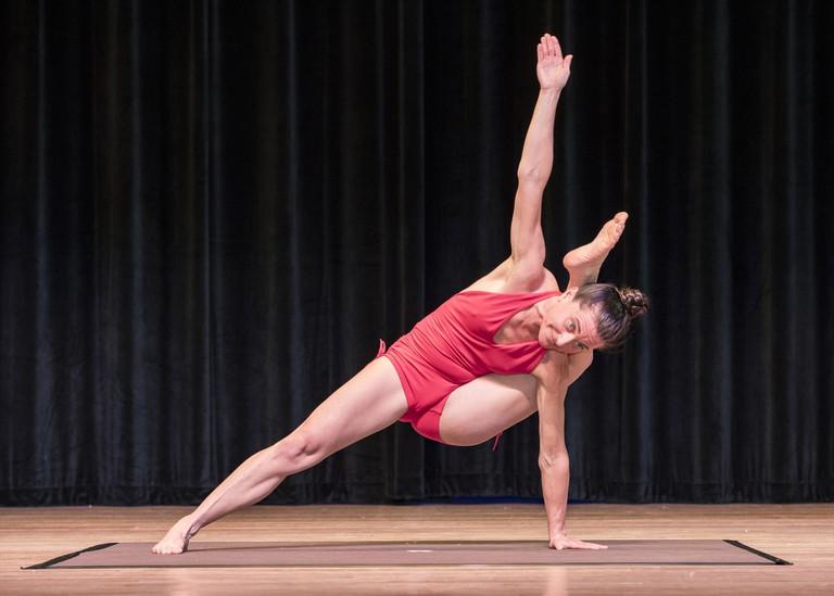 Jenn Myles at the USA Yoga Championships