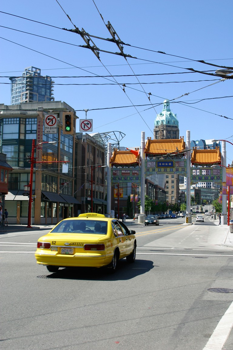 View of the China Town gate in Vancouver