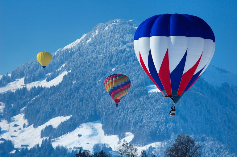 Château-d'Oex has a unique microclimate that's ideal for flying hot-air balloons