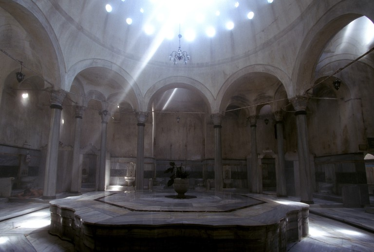 300 years old Cagaloglu Hammam at the historic Sultanahmet Quarter, Istanbul, Turkey