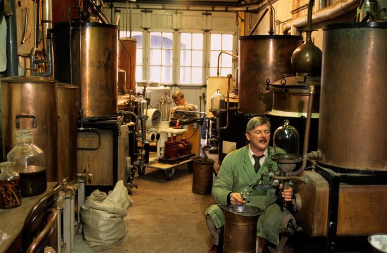 Genever liquor gin distillery Amsterdam, Netherlands