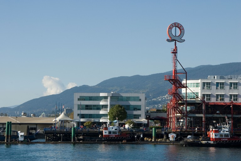 Lonsdale Quay in North Vancouver, British Columbia, Canada.