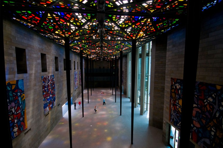 Stained glass cieling by Sir Roy Grounds in the National Gallery of Victoria in Melbourne