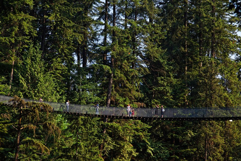 Lynn Canyon Capilano Suspension Bridge in Vancouver, Canada.