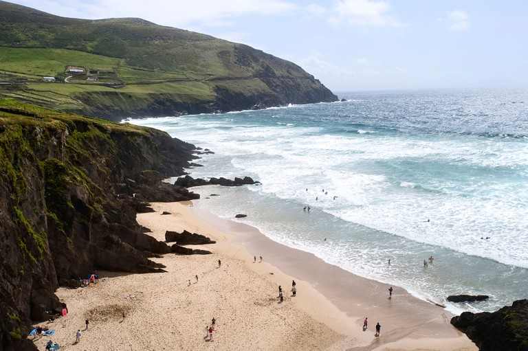 Coumeenole beach, Dingle Peninsula, Co Kerry, Ireland.