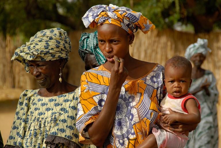 Wolof woman and child, Senegal