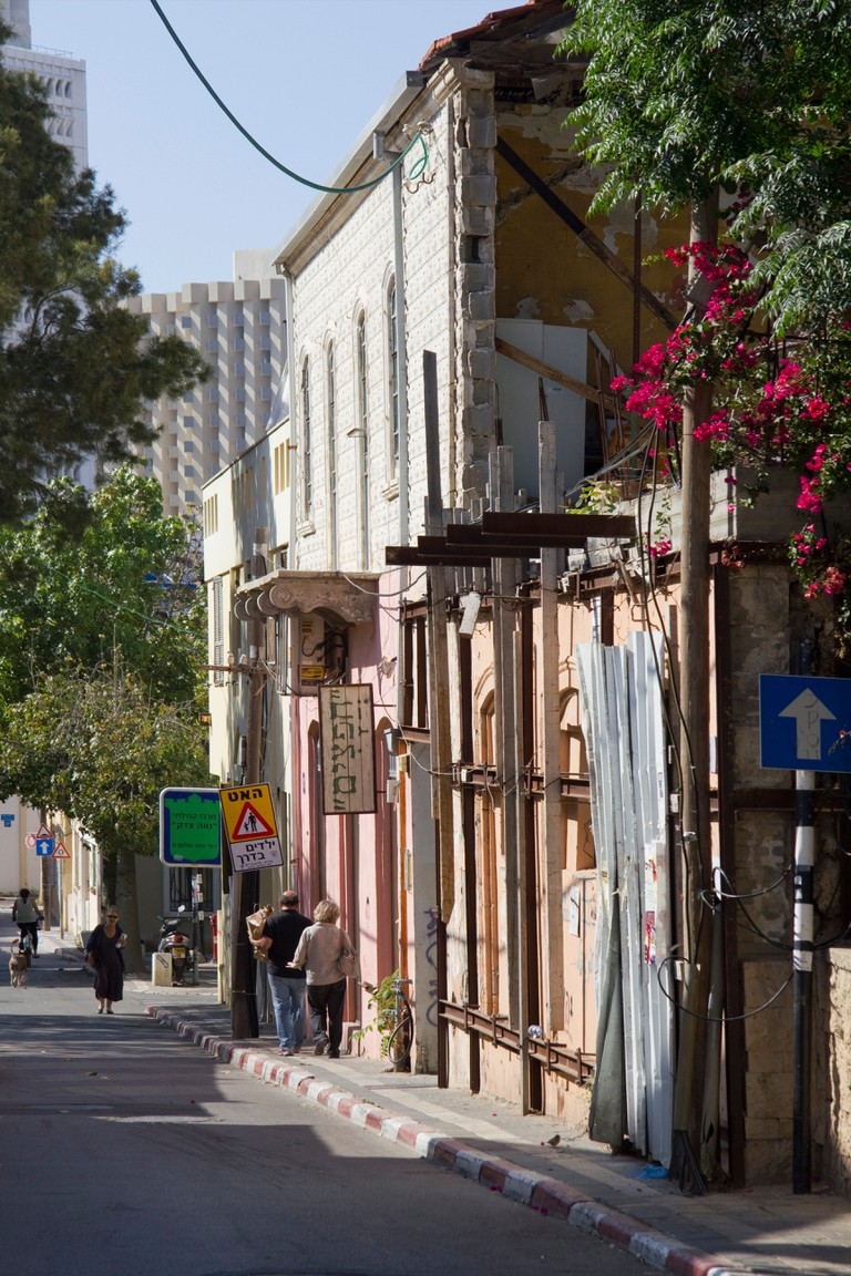 Old Neve Tzedek neighbourhood in Tel Aviv, Israel.