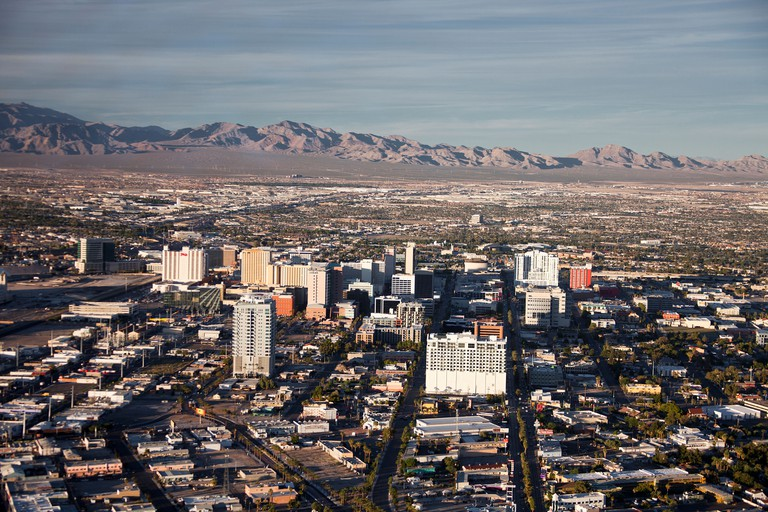 View of Las Vegas in the Mojave Desert