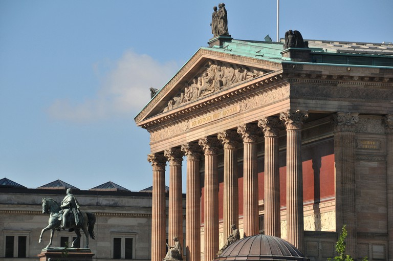 Friedrich Wilhelm IV equestrian statue, Old National Gallery, Museum Island, Berlin, Germany