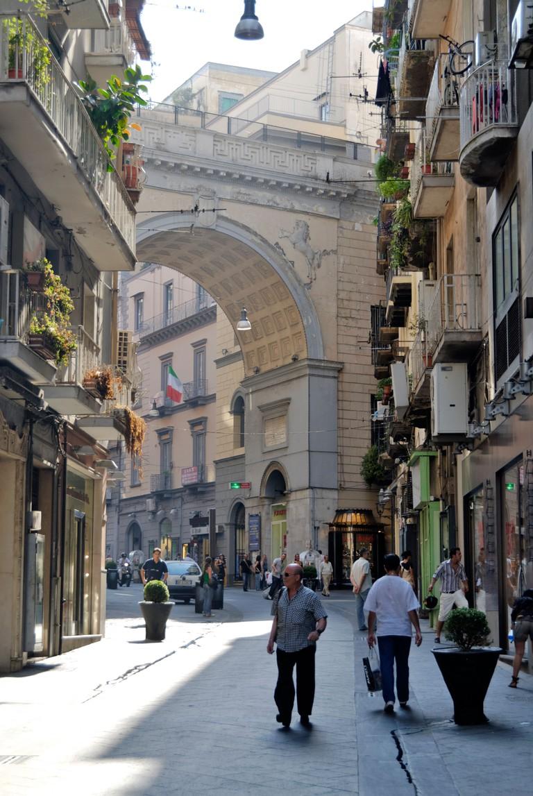Street scene in Naples. Italy.
