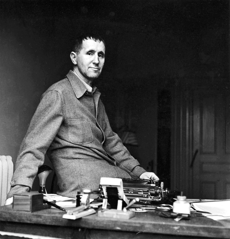 Bertolt Brecht in 1937. Portrait by photographer Fred Stein (1909-1967).