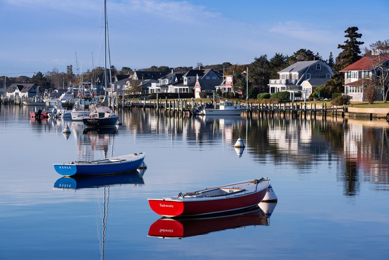 Boats in Oak Bluffs Harbor, Martha's Vineyard.
