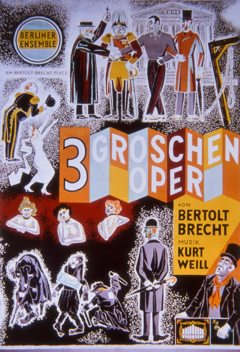 1960 poster of The Threepenny Opera Die Dreigroschenoper, a musical by German dramatist Bertolt Brecht.