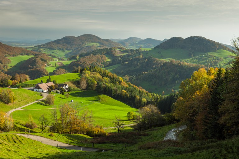 The Jura Mountains are a less touristy alternative to the Alps