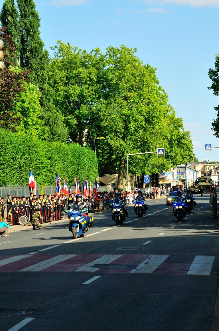 14th July Parade in Bourges, France