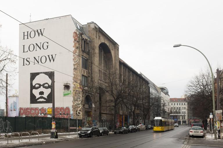 The Kunsthaus Tacheles on Januar 10th in Berlin