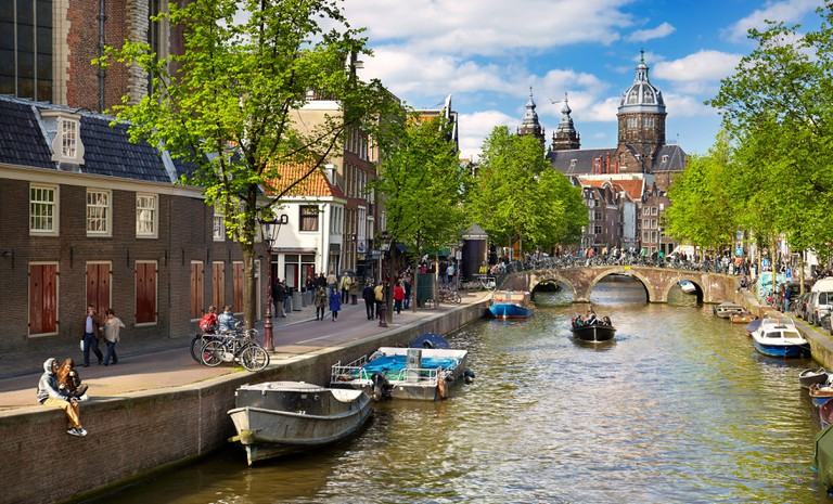 Amsterdam canals, Holland, Netherlands