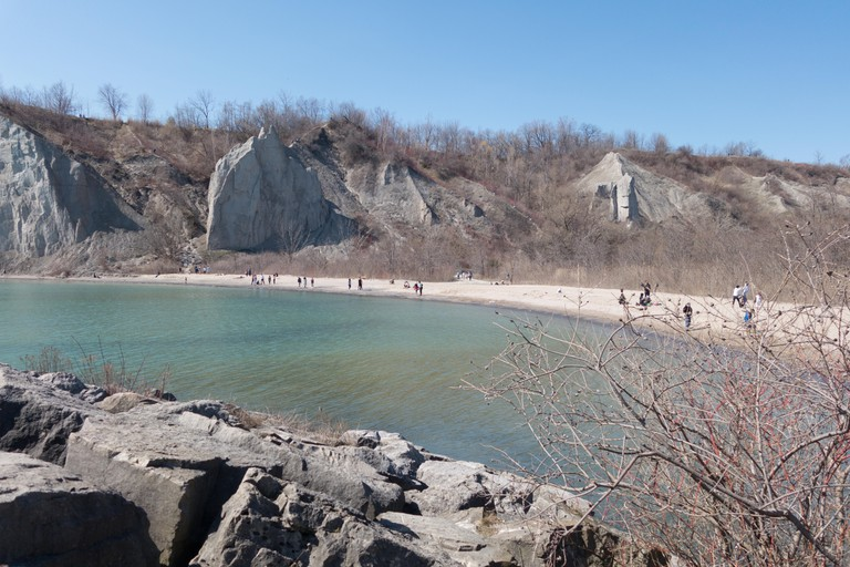 Scarborough bluffs beach, Toronto, Canada.