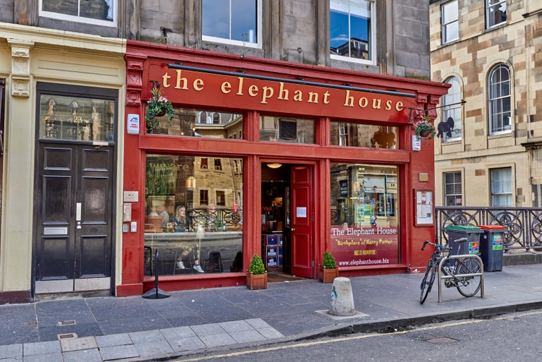 """The Elephant House"" one of the cafes in Edinburgh which Rowling wrote the first Harry Potter novel"
